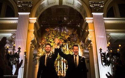 Opulent Providence Public Library Fall Wedding
